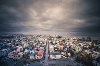 iceland clouds storm moody
